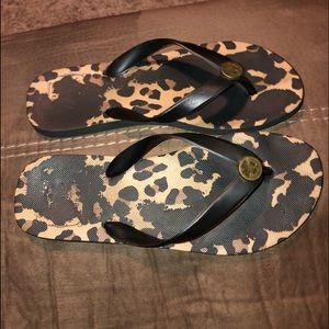 Lucky 🍀 Brand Leopard Flip Flops
